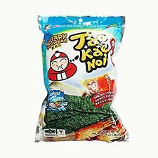 Tao Kae Noi Crispy Seaweed Seafood Flavour 32g (Pack of 6)