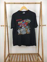 VTG Did We Die In Vain Skeleton War Battle Single Stitch T-Shirt Size XL RARE