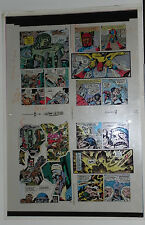 NEW GODS BOOK 6 FLAT 5 JACK KIRBY ORIGINAL 3M COLOR ART SIGNED A. TOLLIN w/COA