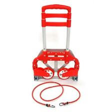 Portable Cart Folding Dolly Truck Hand Collapsible Trolley Luggage Cart Red