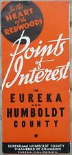1940's Points of Interest in Eureka & Humbold County Califrornia brochure map b