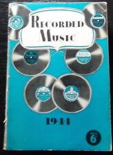 Australian EMI RECORD CATALOGUE 1944