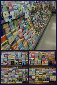 100 HALLMARK GREETING CARDS & Envelopes HUGE Wholesale Lot MANY OCCASIONS