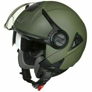 Studds Downtown Half Helmet Military Green 580 MM L Size