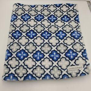 Blankets & Beyond Navy blue Gray White Baby Blanket Plush Soft