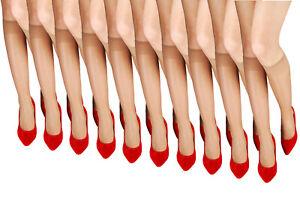 Aurellie Women Sheer Knee High Pop Socks Colours 20 Denier packs of 10 One Size