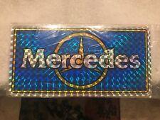 Vintage prism license plate tag topper MERCEDES BENZ NOS 60'S-70'S-80'S-90'S