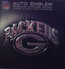 Green Bay Packers Metal Auto Emblem Chrome