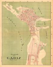 CADIZ. Plano antiguo de la cuidad. Antique town/city plan. MARTIN c1911 map