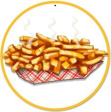 """French Fries 14"""" Round Metal Sign"""