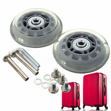 Pair OD 70mm Baggage Luggage Suitcase Wheels Axles Replacement Deluxe Repair