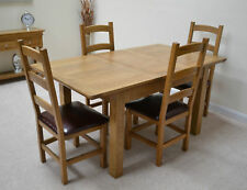 Oak Dining Table 4ft Extending / Seats 4 - 6 Living Room Normandy Farmhouse