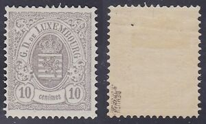 Luxembourg 1880 Mint Postage stamp Yv# 42 Lightly Hinged - Cat val 200€....A6164