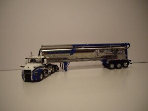 DCP FIRST GEAR 1/64 WHITE&BLUE MACK ANTHEM DAYCAB TRI-AXLE WALINGA FEED TRAILER