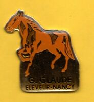 Pin's lapel pin pins Hippique Equitation CHEVAL HORSE G. CLAUDE ELEVEUR NANCY