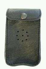 Deben MK1 Black leather ferret finder case / belt loop with studs.