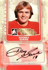 11-12 itg game canada vs world danny gare team autograph auto