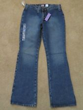 New Women's Old Navy Ultra Low-Rise Bootcut Blue Jeans Button-Up Fly Size 6