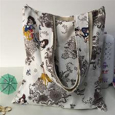Cotton Linen Fabric Shoulder Bag Eco Shopping Tote Princess Snow White DJ02 S