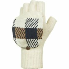 WOOLRICH WOMEN'S PLAID POP-OVER MITTENS WHEAT NWT $25 LIST
