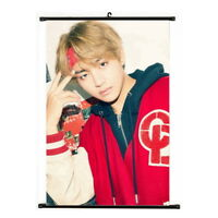 Kpop Bangtan Boys V MIC Drop & DNA Hanging Painting Art Poster