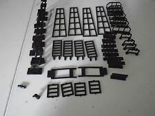 Lego Lot of 45 Pieces City Building Plate Black Various Sizes Unique Special