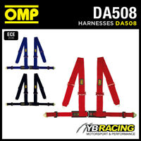 "DA508 OMP 'RACING 4M"" HARNESS 3"" SHOULDER STRAPS SNAP-HOOK RED / BLACK / BLUE"