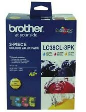 Genuine Brother Ink Cartridge LC-38 Pack of 3 (Cyan/Magenta/Yellow)