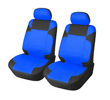 Leather Like 2 Front Car Seat Covers for Suzuki 153 Black-Blue