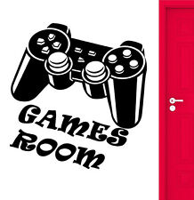 GAMES ROOM VINYL WALL ART STICKER DECAL DECORATION