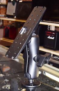 RAM LARGE LONG ARM 2.25 BALL MOUNT D-111U 11 X 3 PLATE 3.68 ROUND BASE LMTV M998