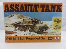 Revell Italaerei M40-M41 ASSAULT TANK 1/35 Scale Plastic Model Kit STARTED