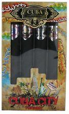 Cuba City by Parfums Des Champs for Men SET: EDT Cologne Spray 1.17 oz.x4 NIB