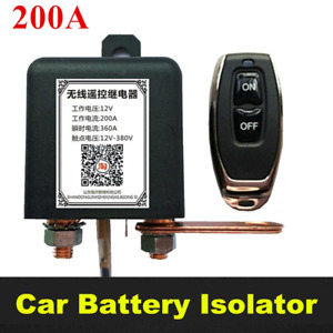 Car Battery Cut-off Disconnect Switch Wireless Remotely Power Master Kill Switch