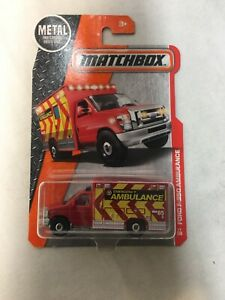 Matchbox 2016 Ford F-350 Ambulance 77/125, Red