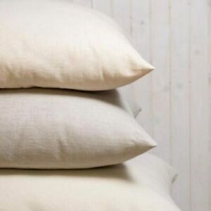 100%Natural Wool Filling Pillows with 100% Organic Cotton Cover (Natural Colour)