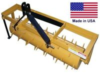 4 FT INDUSTRIAL 3 Point Aerator Drum - Category 1 -  Commercial - HEAVY DUTY
