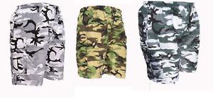 MENS CAMO COMBAT CARGO ARMY SHORTS BIG SIZE S M L XL XXL 3XL 4XL 5XL lightweight