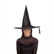 Black Satin Adult Costume Witch Hat Accessory Rubies 49457