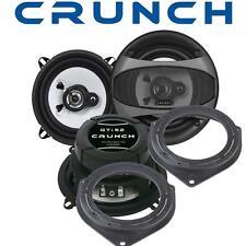 Crunch Lautsprecher 13cm & Adapterringe für Opel Corsa D  ab 2006 Seite-Heck