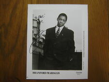 BRANFORD  MARSALIS   Grammy  Award  Winner  Signed  8 X 10  B & W  Glossy  Photo