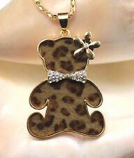 New fashion lovely Plating 14 k leopard print Little bear necklace  k567
