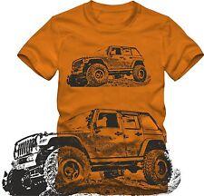 "T- Shirt "" Jeep Wrangler "" viele Farben  Offroad Retro Grafik S / W DTG"