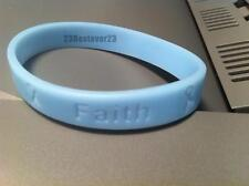 10 Light Blue Prostate Cancer Awareness Silicone ADULT Bracelets Wristbands