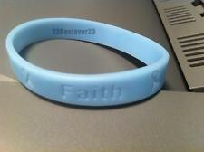 2 Light Blue Prostate Cancer Awareness Silicone ADULT Bracelet Wristbands