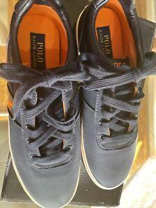 Ralph Lauren Polo Mens Blue Canvas Shoes Size 9