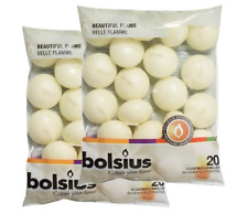 2 x PREMIUM BOLSIUS IVORY, RED OR WHITE - FLOATING CANDLES 40 PACK 5 HOUR BURN