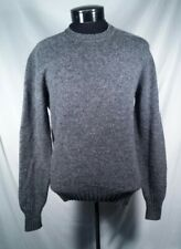 Vtg Abercrombie & Fitch Sweater Shetland Wool Grey Crew Neck Long Sleeve Medium