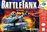 BattleTanx 1 Nintendo 64 N64 OEM Authentic Video Game Cart Retro Tanks FAST SHIP