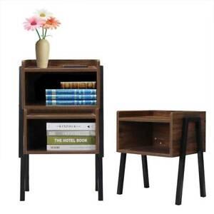 Bedside Table Cabinet Side Tables Bedroom Nightstand Wooden Drawer Storage Unit